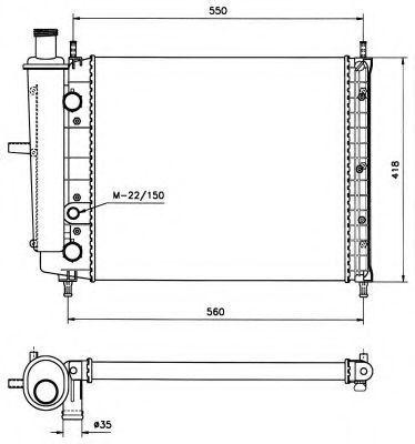 Радиатор охлаждения NRF 58015