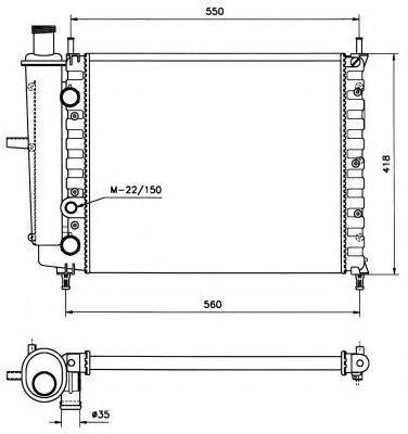 Радиатор охлаждения NRF 58016