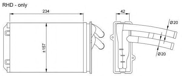 Радиатор отопителя NRF 58035