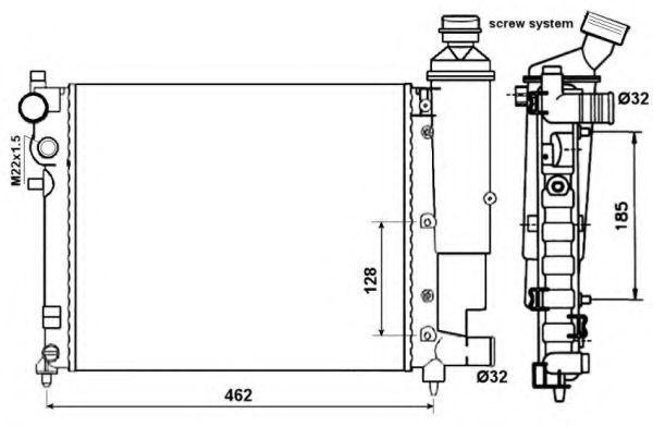 Радиатор охлаждения NRF 58067