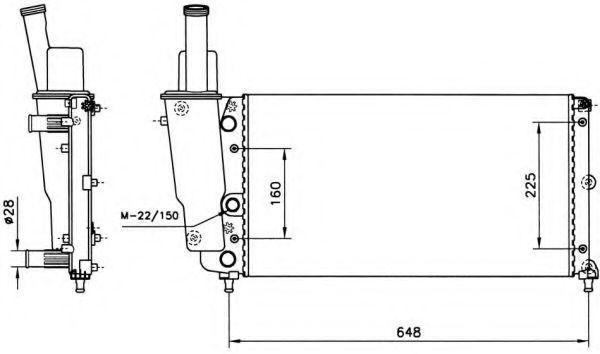 Радиатор охлаждения NRF 58072