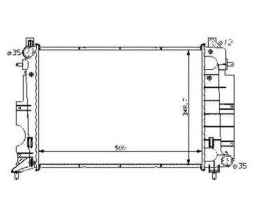 Радиатор охлаждения NRF 58108