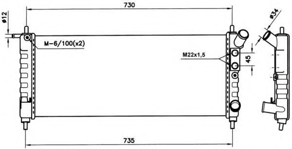 Радиатор охлаждения NRF 58154