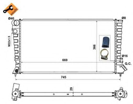 Радиатор охлаждения NRF 58189