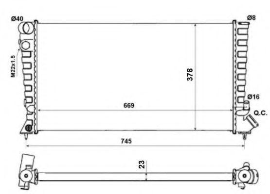 Радиатор охлаждения NRF 58189A