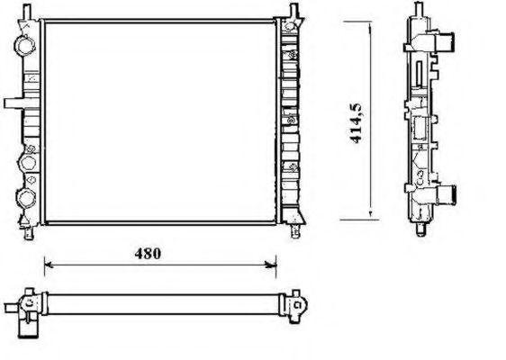 Радиатор охлаждения NRF 58191