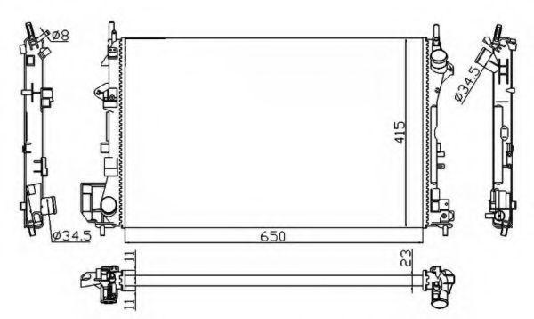 Радиатор охлаждения NRF 58203A