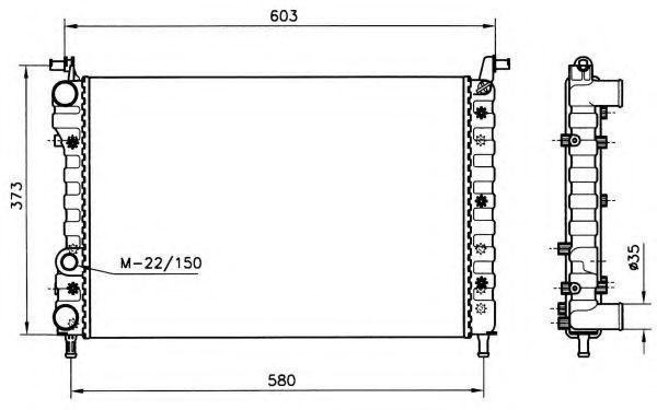 Радиатор охлаждения NRF 58221