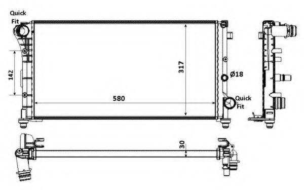 Радиатор охлаждения NRF 58237