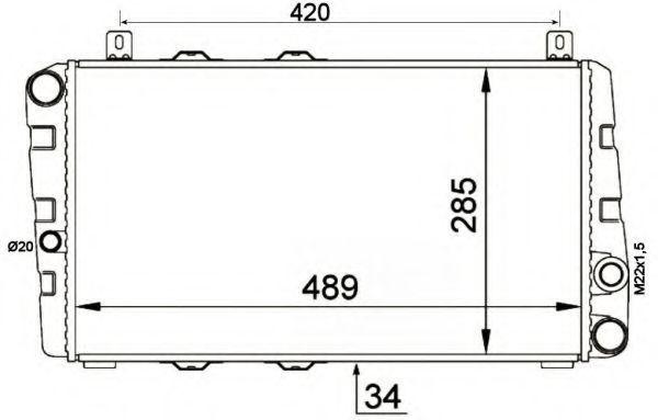 Радиатор охлаждения NRF 58250