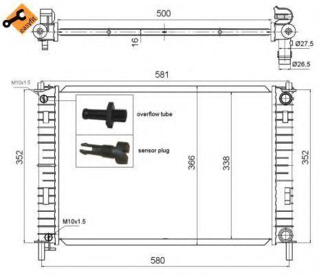 Радиатор охлаждения двигателя NRF 58276