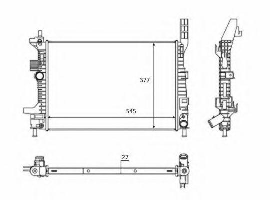 Радиатор охлаждения NRF 58284