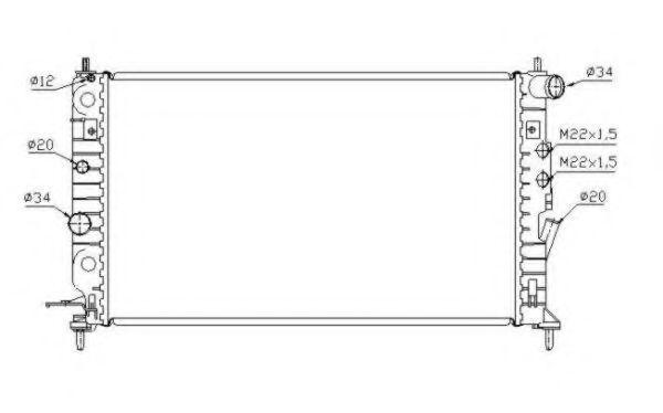 Радиатор охлаждения NRF 58288