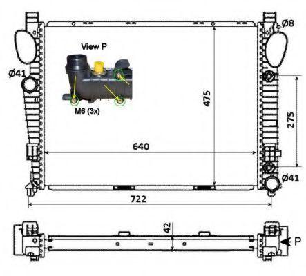 Радиатор охлаждения NRF 58366