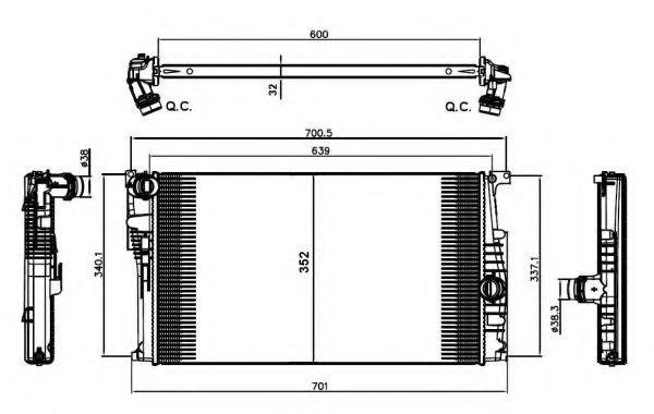 Радиатор охлаждения NRF 58412
