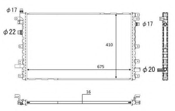 Радиатор, охлаждение двигателя NRF 58569