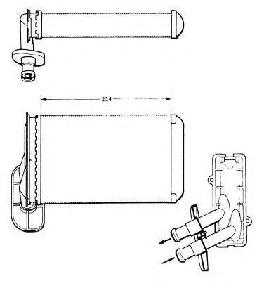 Радиатор отопителя салона NRF 58622