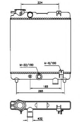 Радиатор охлаждения NRF 58659