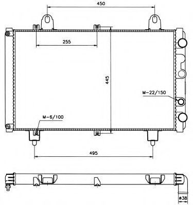 Радиатор охлаждения NRF 58666