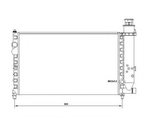 Радиатор охлаждения NRF 58683