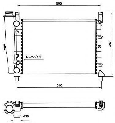 Радиатор охлаждения NRF 58705