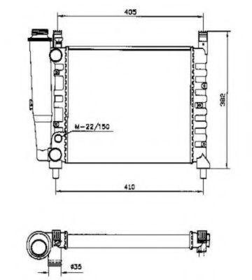 Радиатор охлаждения NRF 58730