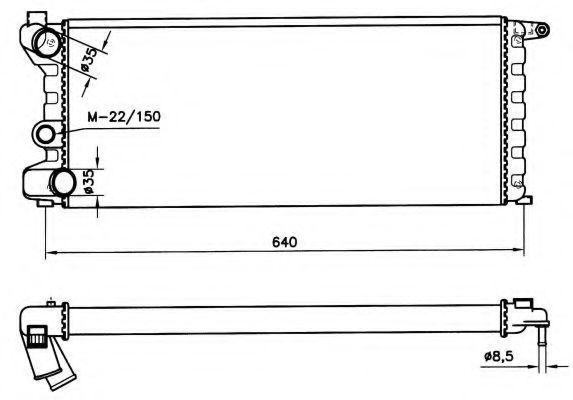 Радиатор охлаждения NRF 58742