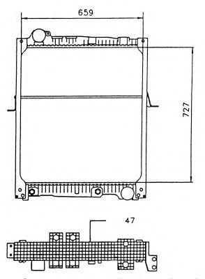 Радиатор охлаждения NRF 58926