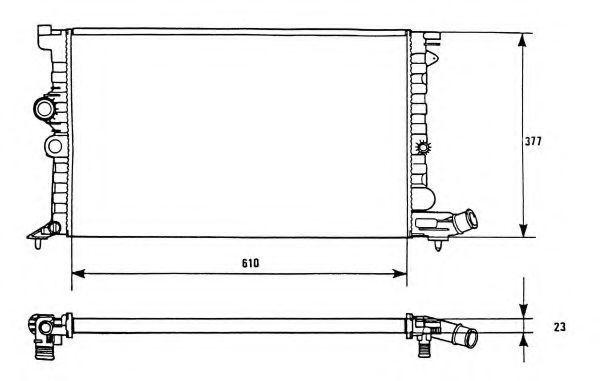 Радиатор охлаждения NRF 58946