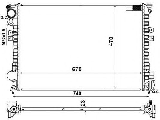 Радиатор охлаждения NRF 58958