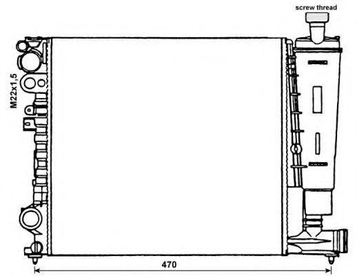 Радиатор охлаждения NRF 58959