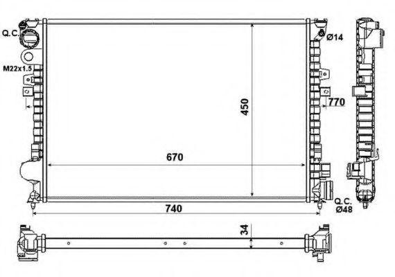 Радиатор охлаждения NRF 58993