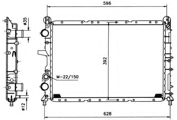 Радиатор охлаждения NRF 58995