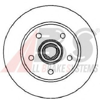Тормозной диск A.B.S. 16378