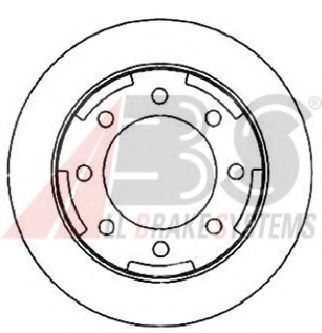 Тормозной диск A.B.S. 17292