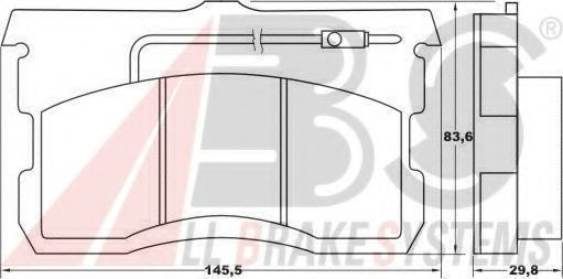 Комплект тормозных колодок, дисковый тормоз A.B.S. 36035