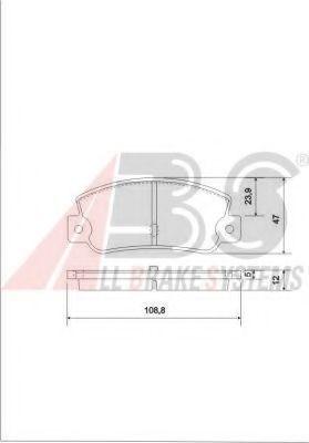 Колодки тормозные A.B.S. 36081