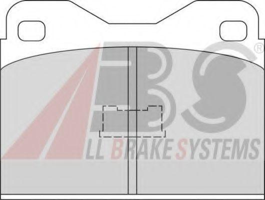 Колодки тормозные A.B.S. 360912