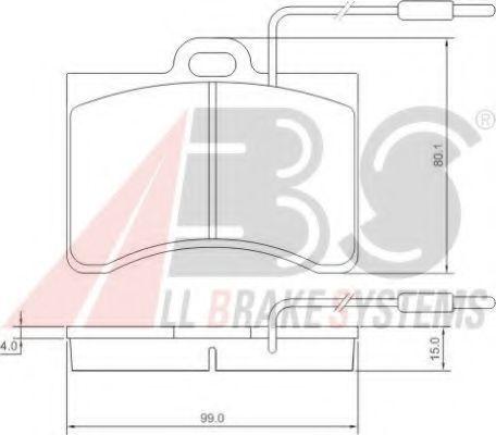 Колодки тормозные A.B.S. 36099