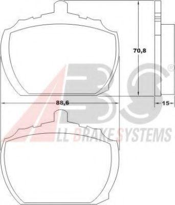 Колодки тормозные A.B.S. 36.102