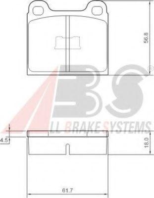 Колодки тормозные A.B.S. 36106