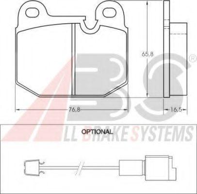 Колодки тормозные A.B.S. 36140
