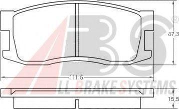 Колодки тормозные A.B.S. 36165