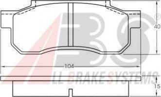Комплект тормозных колодок, дисковый тормоз A.B.S. 36551