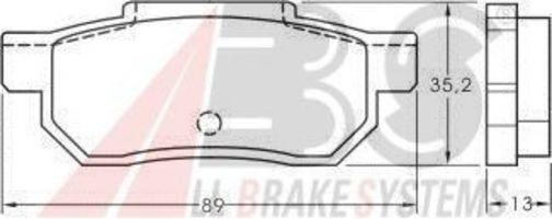 Колодки тормозные A.B.S. 36619