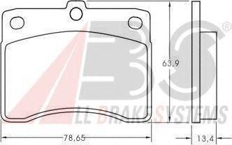 Колодки тормозные A.B.S. 36621