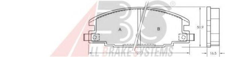 Колодки тормозные A.B.S. 36632