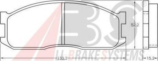 Колодки тормозные A.B.S. 36642