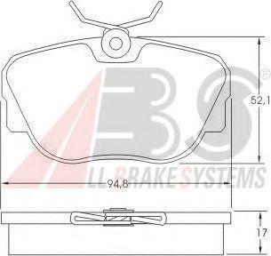 Колодки тормозные A.B.S. 36664