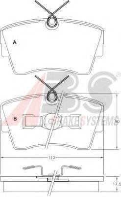 Колодки тормозные передние A.B.S. 36695